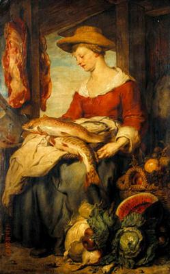 Алонсо Кано. Продавщица рыбы и овощей