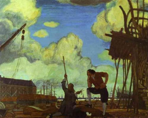 Mstislav Valerianovich Dobuzhinsky. Peter The Great