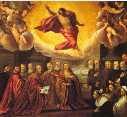 Джакомо Пальма Младший. Дож Реньеро Дзено жертвует церкви Крочифери