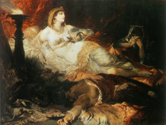 Hans Makart. The Death Of Cleopatra