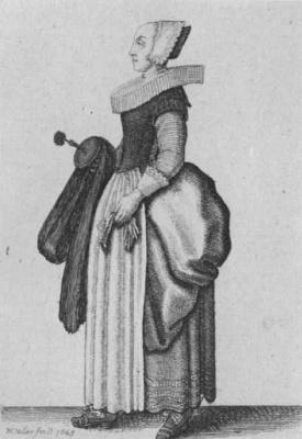 Венцель Холлар. Кельнская дама свободных нравов