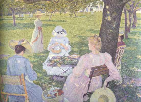 Theo van Rysselberghe. July, family in the garden
