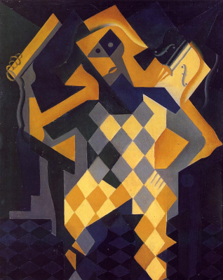 Juan Gris. Harlequin with violin