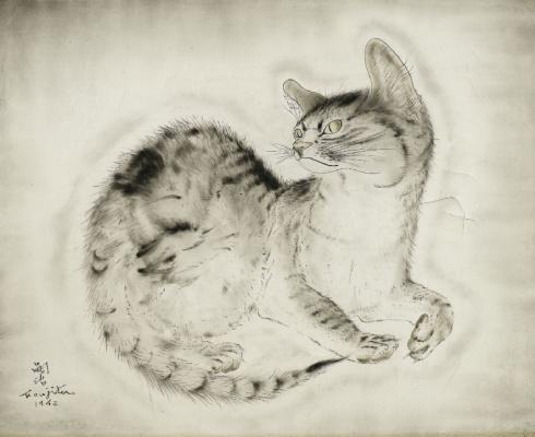 Цугухару Фудзита ( Леонар Фужита ). Кот