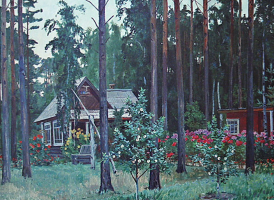 Александр Александрович Дейнека. Вечер на даче.  Курск
