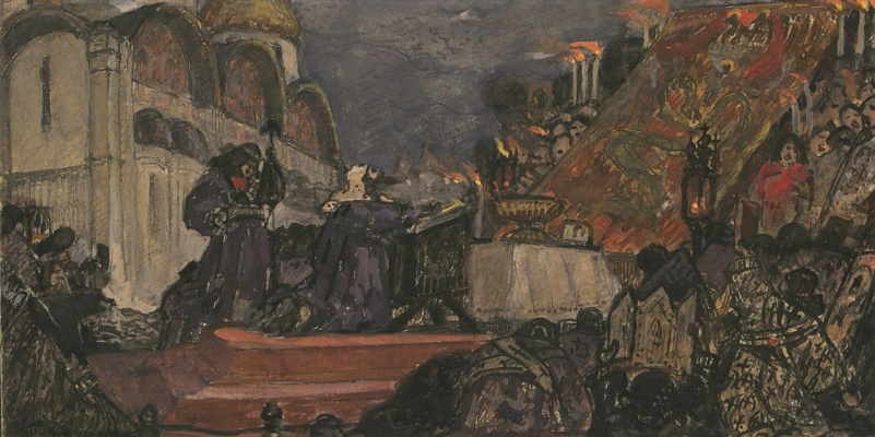 Vasily Ivanovich Surikov. Patriarch Hermogenes in the prayer for the overthrow of the Tushino thief