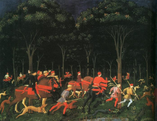 Paolo Uccello. Hunting in the forest
