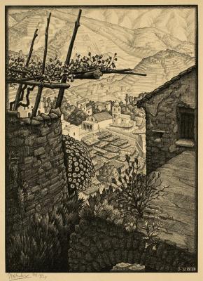 Maurits Cornelis Escher. Turello, Southern Italy