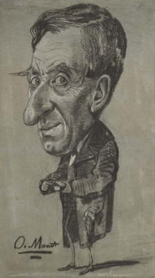 Claude Monet. Caricature of a Man with a snuff box