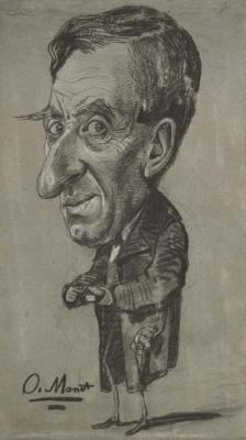 Клод Моне. Карикатура Мужчина с табакеркой