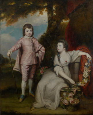Joshua Reynolds. George Capel, Viscount Malden and Lady Elizabeth Capel