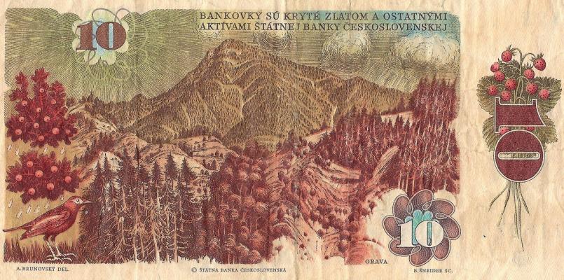 Альбин Бруновский. Дизайн денежной банкноты 10 крон