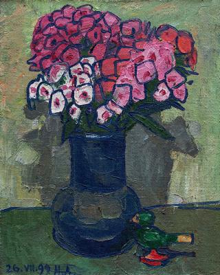 Nikolay Konstantinovich Androsov. Flowers and bird