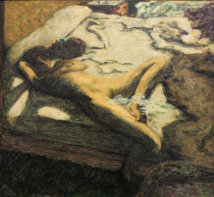 Pierre Bonnard. Woman slumbering on the bed