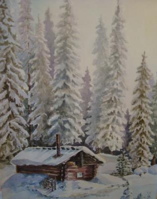 Valentina Ushakova. Winter house
