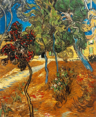 Винсент Ван Гог. Деревья в саду больницы