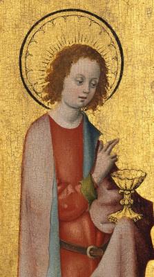 Stefan Lochner. St. John the Theologian. 1445-1450 detail