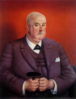 Otto Dix. Portrait Of Johann Edwin Wolfensberger