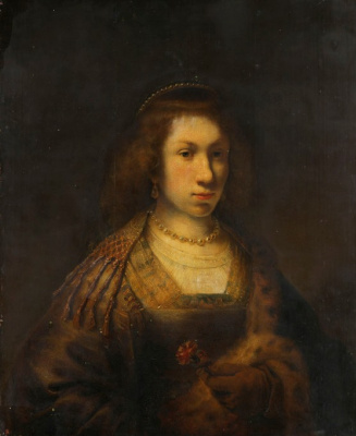 Фердинанд Балтасарс Боль. Портрет молодой женщины с гвоздикой