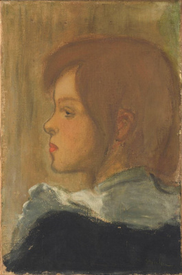 Theophile-Alexander Steinlen. Profile of a young girl