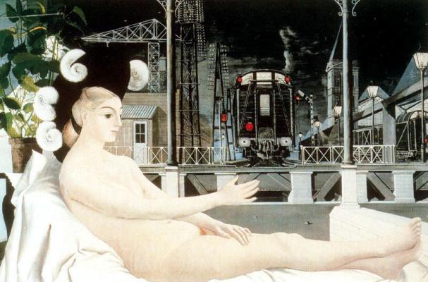 Paul Delvo. Reclining Nude girl