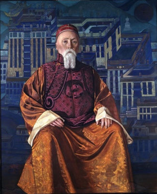Svyatoslav Nikolaevich Roerich. Portrait of Nicholas Roerich in a Tibetan costume