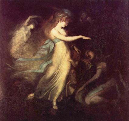 Johann Heinrich Fuessli. Prince Arthur and the fairy Queen