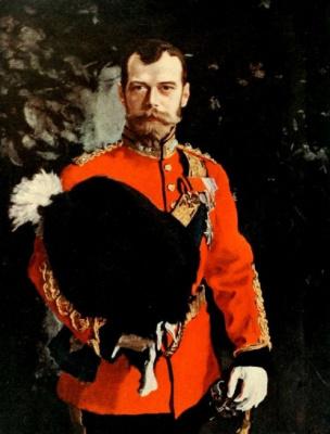 Валентин Александрович Серов. Портрет императора Николая II в мундире Королевского шотландского 2-го драгунского полка