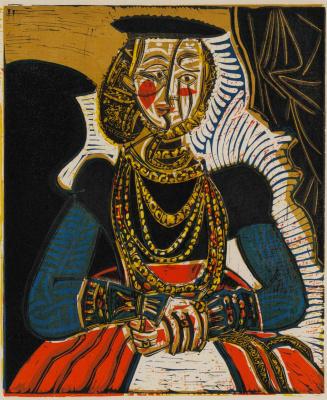 Pablo Picasso. Female portrait (Cranach, Jr.)