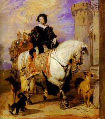 Edwin Henry Landseer. Queen Victoria on horseback, CA. 1840