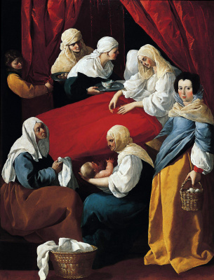 Francisco de Zurbaran. The Nativity Of The Virgin