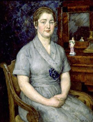 Ilya Ivanovich Mashkov. Portrait of the artist's wife