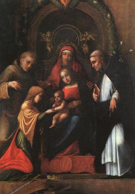 Антонио Корреджо. Мистическое обручение Святой Екатерины