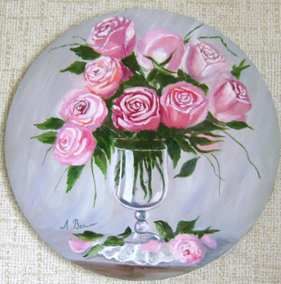 Любовь Викторовна Волобаева. Roses in a vase.