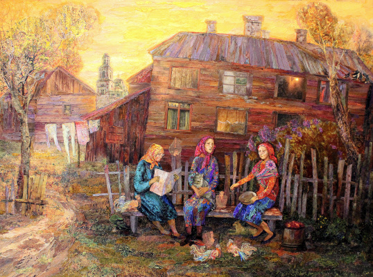Arina Nefyodova. Summer evening in Kirsanov