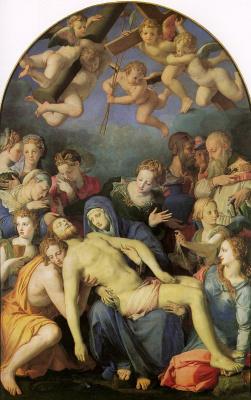 Аньоло Бронзино. Снятие Христа