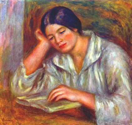 Pierre-Auguste Renoir. Woman in white reading