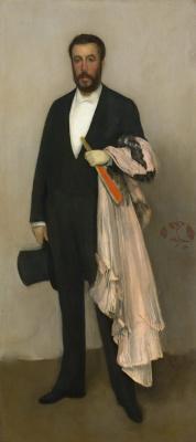 James Abbot McNeill Whistler. Arrangement in light pink and black. Portrait Of Theodore Duret