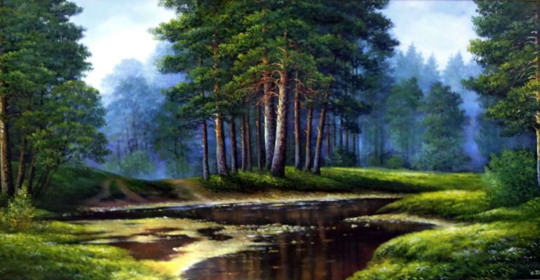 Cvetlan Vasilyevna Prilutskaya. Pines by the water
