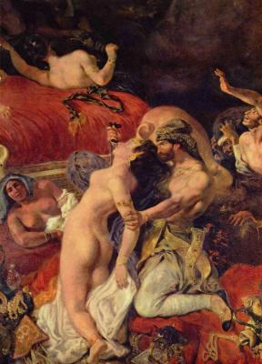 Eugene Delacroix. Death of Sardanapalus (detail)