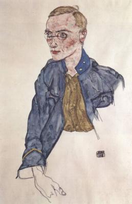 Egon Schiele. Corporal volunteer