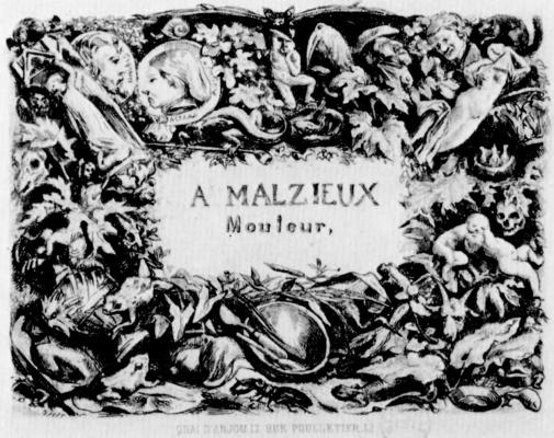 Charles-Francois Daubigny. Business card shaped caster Auguste, Malsie