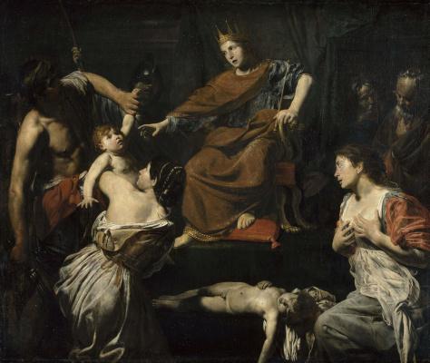 Valentin de Boulogne. The court of king Solomon