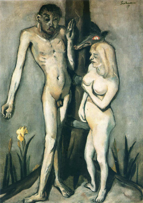 Max Beckmann. A man and a woman at the tree