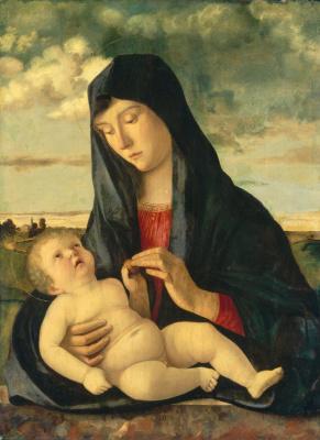 Джованни Беллини. Мадонна с младенцем в пейзаже