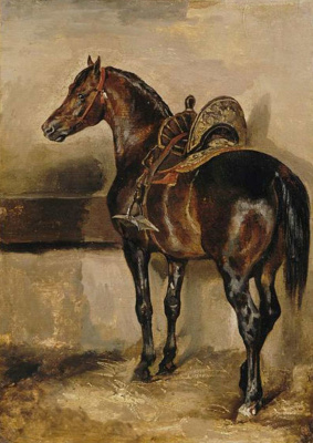 Théodore Géricault. Turkish horse in a stall
