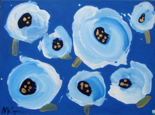 "Marina Dmitrievna Koldobskaya. Blue field. Series ""On the way to Paradise"""