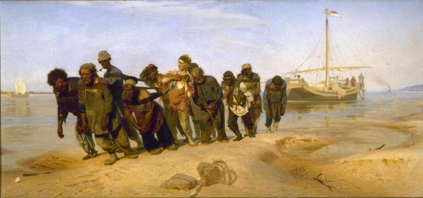 Ilya Efimovich Repin. Barge haulers on the Volga
