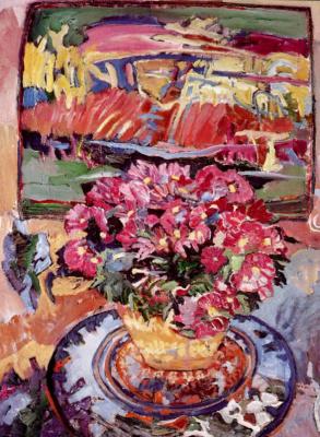 Джоан Кларк. Букет розовых цветов