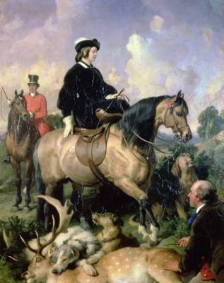 Edwin Henry Landseer. Queen Victoria in Windsor home Park, 1865